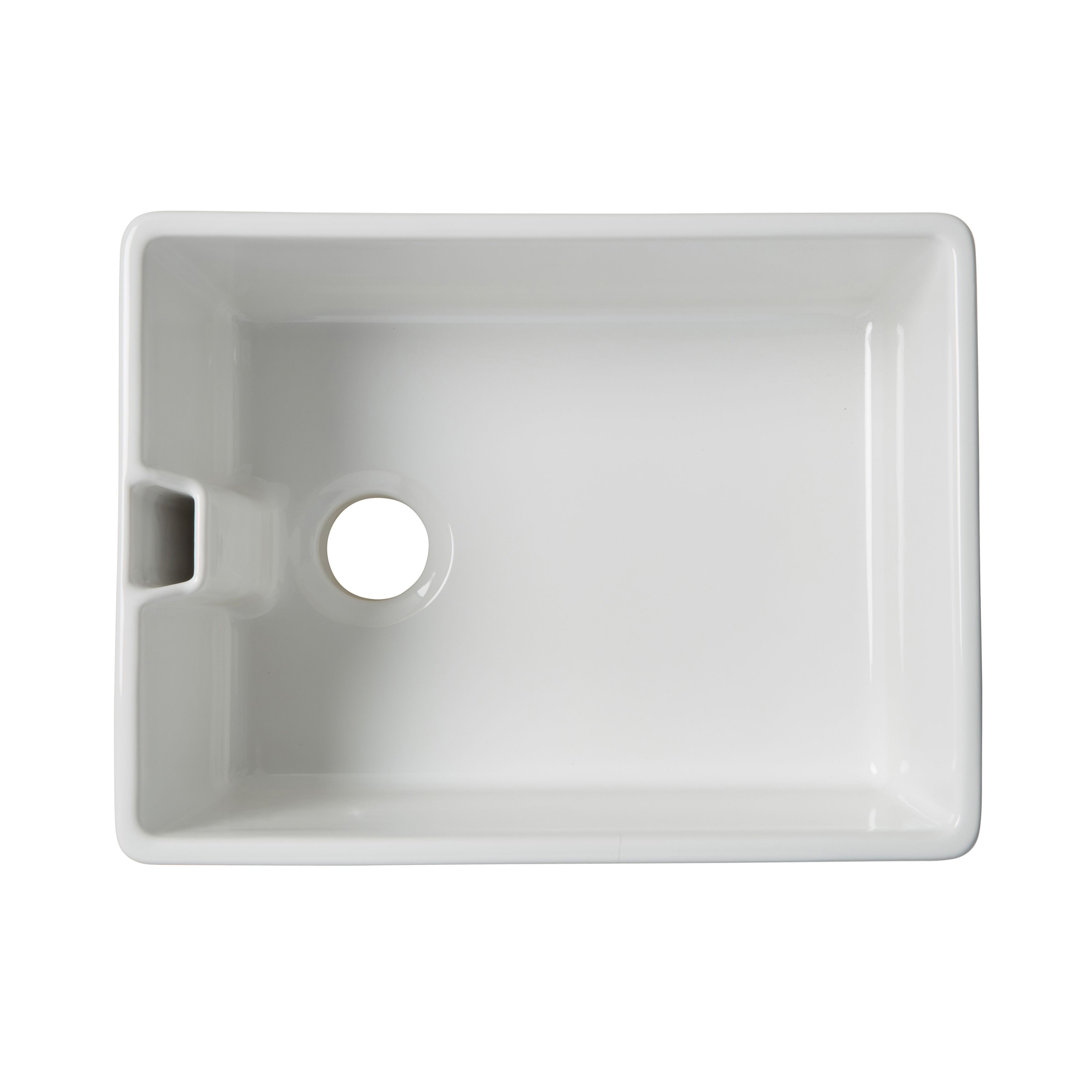 Cooke & Lewis Chadwick 1 bowl White Ceramic Belfast sink | House ...