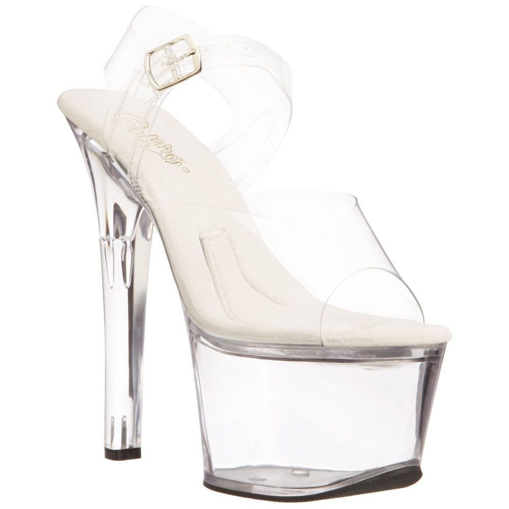 Pleaser Treasure 708(Women's) -Clear/Clear Outlet 100% Authentic koL8vAUpcd