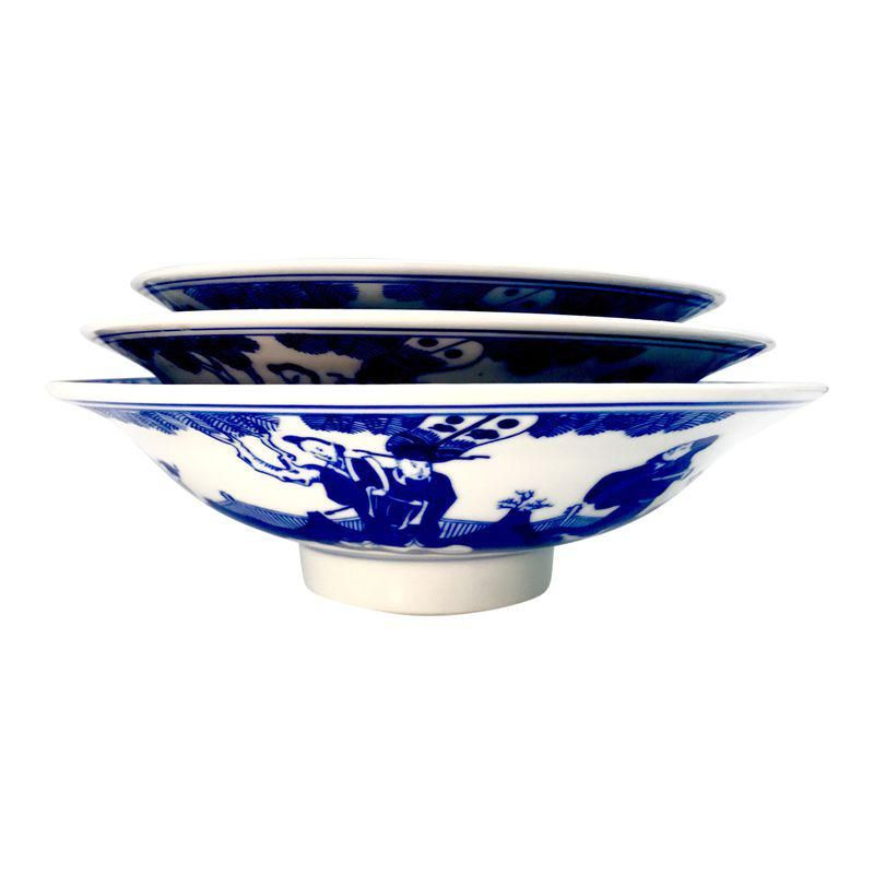 Chinese Immortals Nesting Bowls With Jingdezhen Zhi Mark Set Of 3 Bowl Nesting Bowls Decorative Bowls
