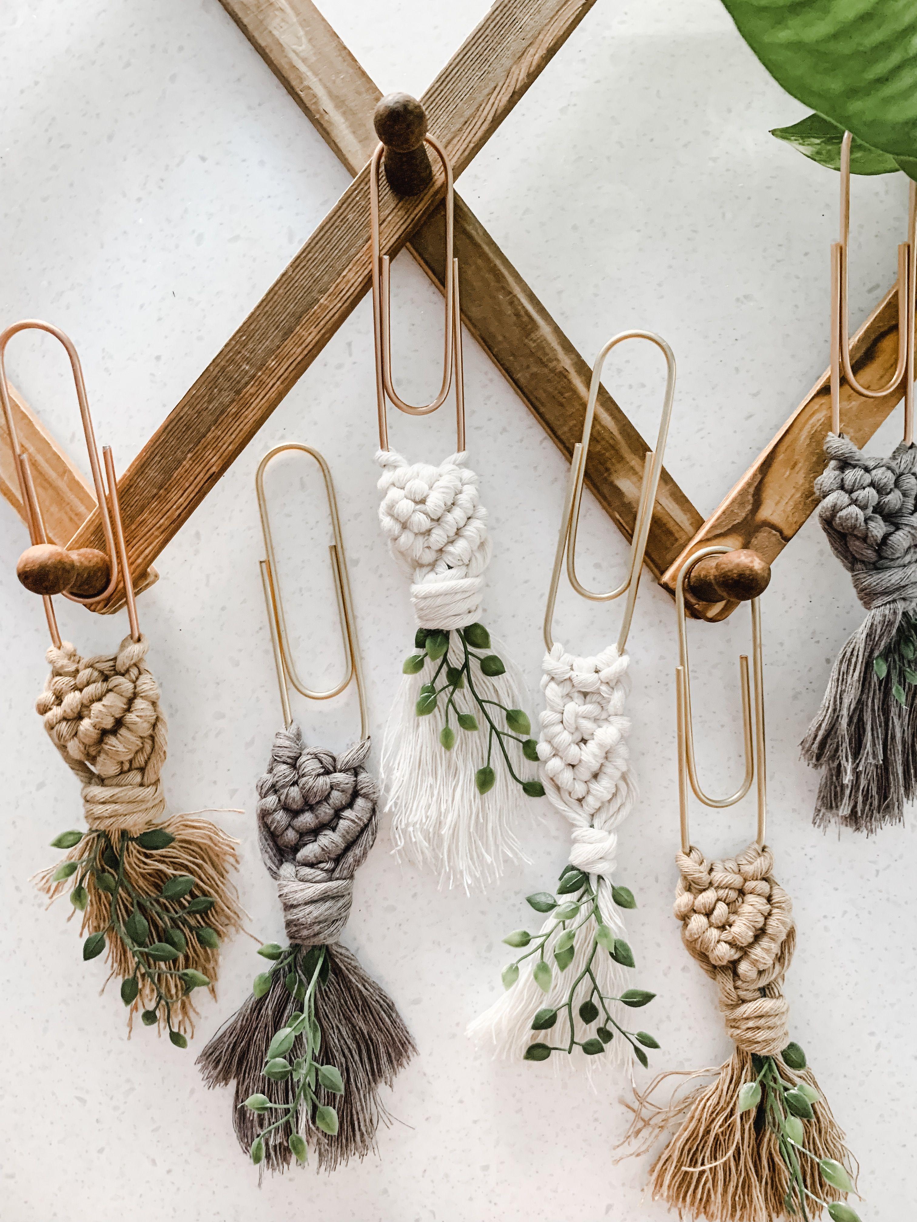 Macrame Bookmarks Bookmarks Handmade Chritmas Decorations Crafts