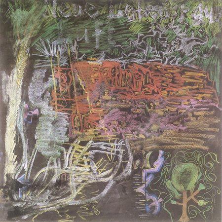 Luft, 1977. Kridt på tavle, 122 x 122 cm
