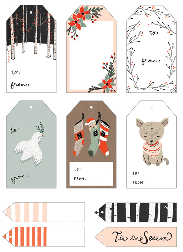 Lovely holiday freebies printables from around the web free lovely holiday freebies printables from around the web printable christmas gift tagsfree negle Images
