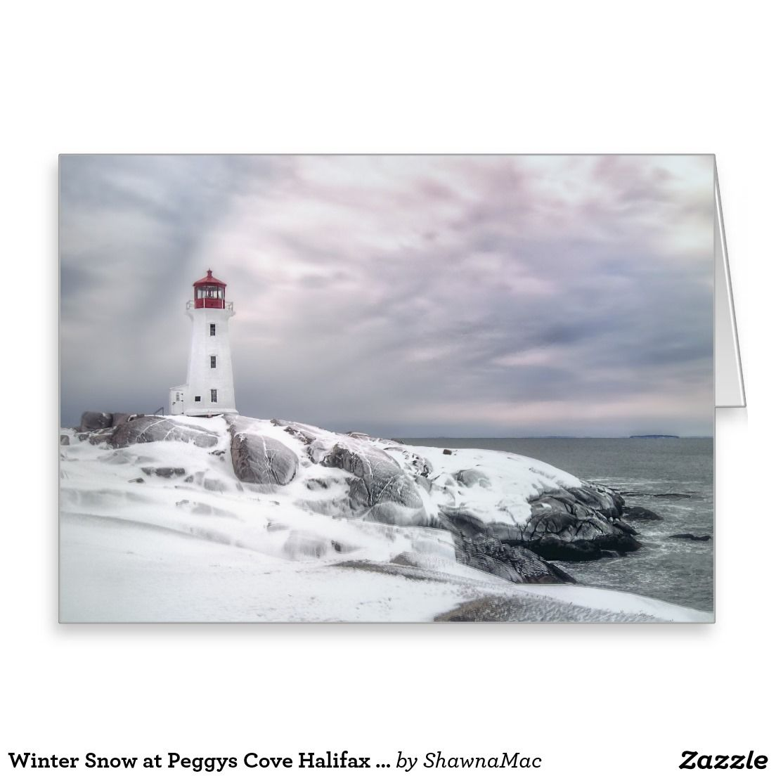 Winter snow at peggys cove halifax nova scotia greeting card winter snow at peggys cove lighthouse halifax nova scotia canada christmas art greeting card kristyandbryce Choice Image