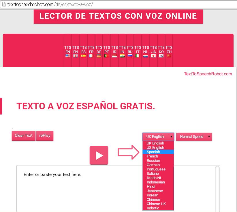 Texto A Voz Lector De Textos Con Voz Gratis Online Tts Multilingüe En Español Para Tu Ordenador Tu Teléfono Y Tu Tablet Textos La Voz Voz Humana