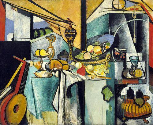 """art-centric:  Henri Matisse - Still Life after Jan Davidsz. de Heem's """"La Desserte"""" 1915 Flickr: http://flic.kr/p/dGTERT"""