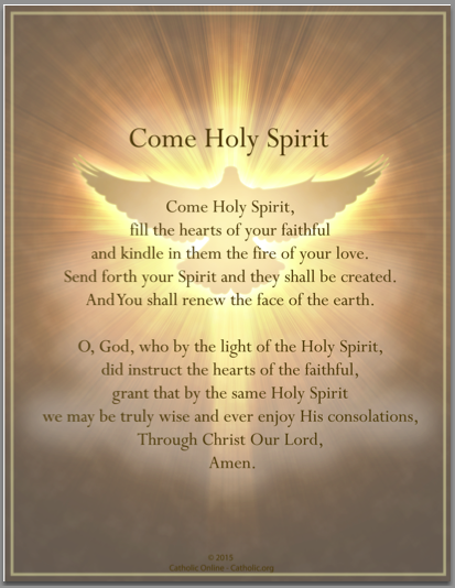 image relating to Come Holy Spirit Prayer Printable known as Prayers - Arrive Holy Spirit (PDF) Cost-free Send $49 Occur Holy