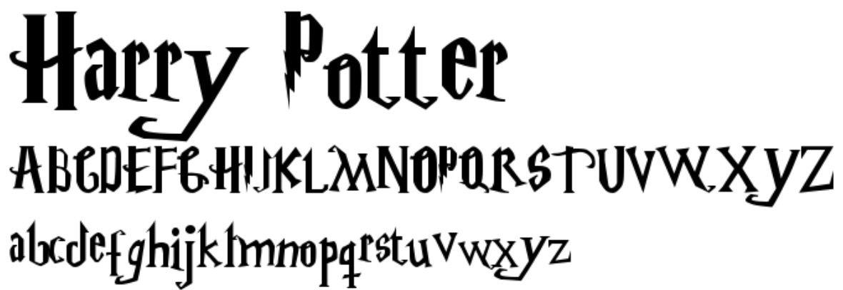 24+ Harry potter letter font inspirations