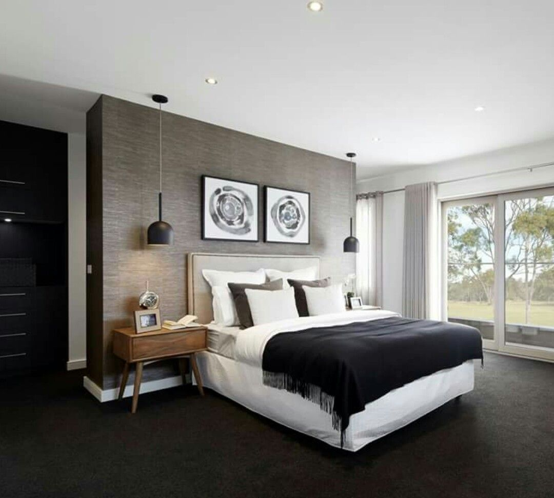 Seagrass Wallpaper Feature Wall Main Bedroom Bedrooms