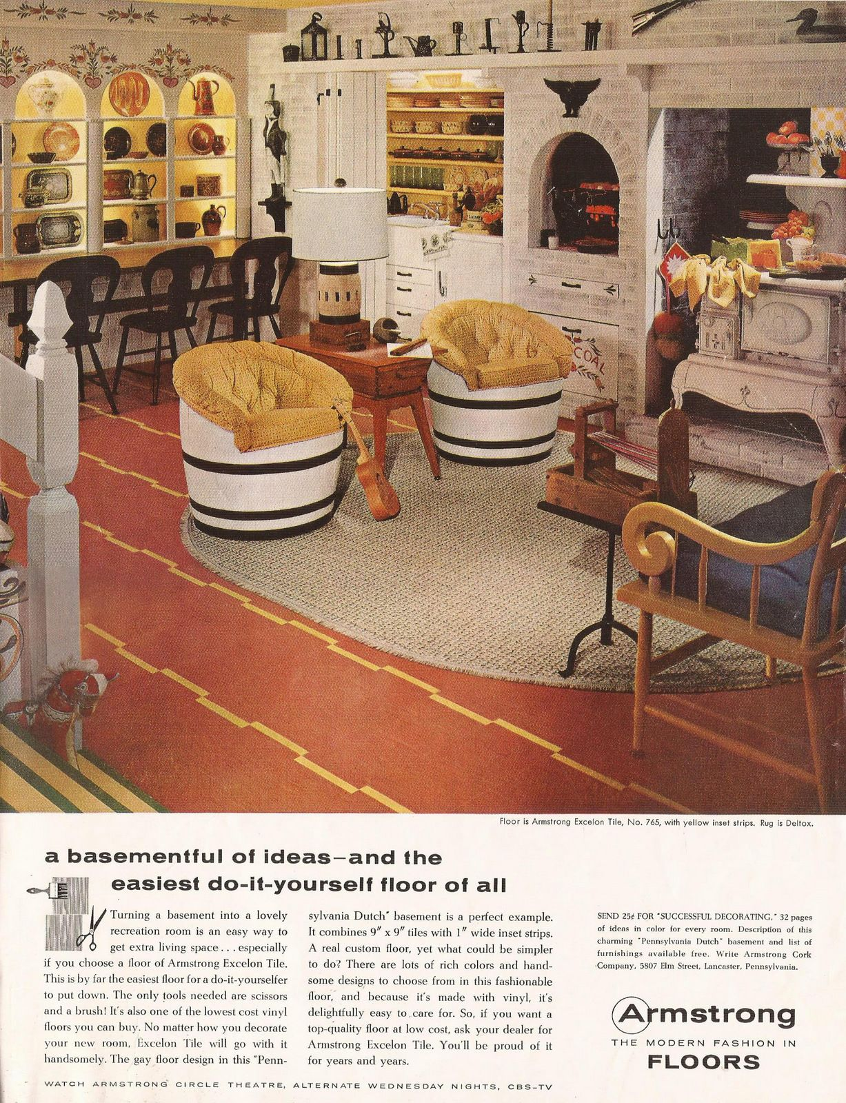 Armstrong Floors ad from Better Homes and Gardens, July 1958 ...