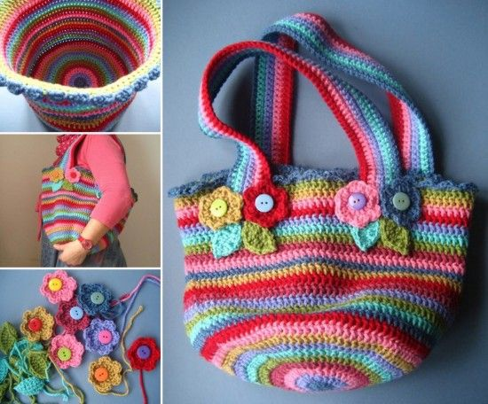 Striped Crochet Bag Pattern Is A Stunner | Crafty things | Pinterest ...