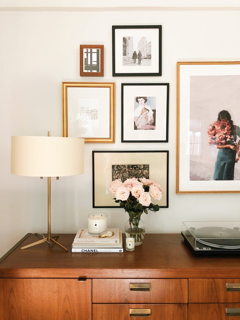 Home interior frames gallery wall and credenza styling ideas  apartment in