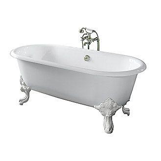 kallista circe cast iron claw foot bathtub with primed exterior less feet p50202