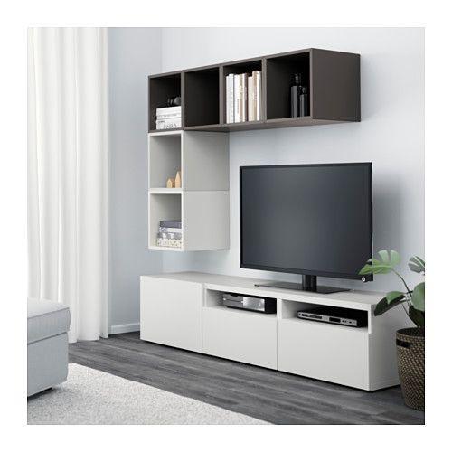 BESTÅ / EKET Mueble TV con almacenaje + armario, blanco | Estantería ...