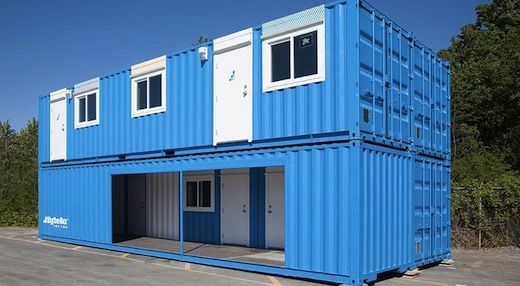 A British Columbia Based Modular Home Company Bigsteelbox Has Unveiled A Series Of Temporary Livi Container House Shipping Container Homes Shipping Container