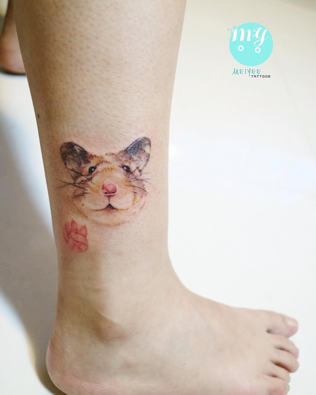 something in honor of pb watercolour hamster tattoo tattoo ideas pinterest. Black Bedroom Furniture Sets. Home Design Ideas