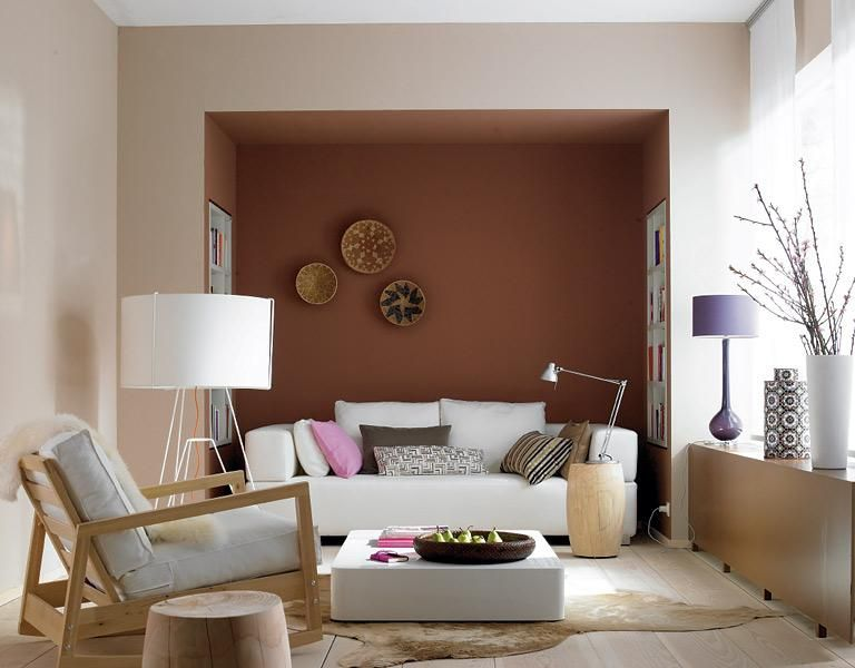 Wohnen mit Farben - Wandfarben Braun, Rot und Beige - wandfarbe beige braun