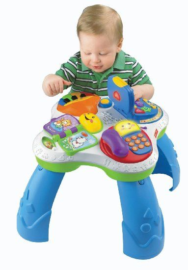 Amazon.com : Fisher-Price Laugh and Learn Fun with Friends Musical Table : Baby Touch And Feel Toys : Toys & Games