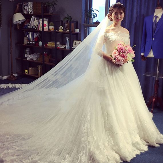 Korean style 2017 spring and summer the new tail is thin wedding ...