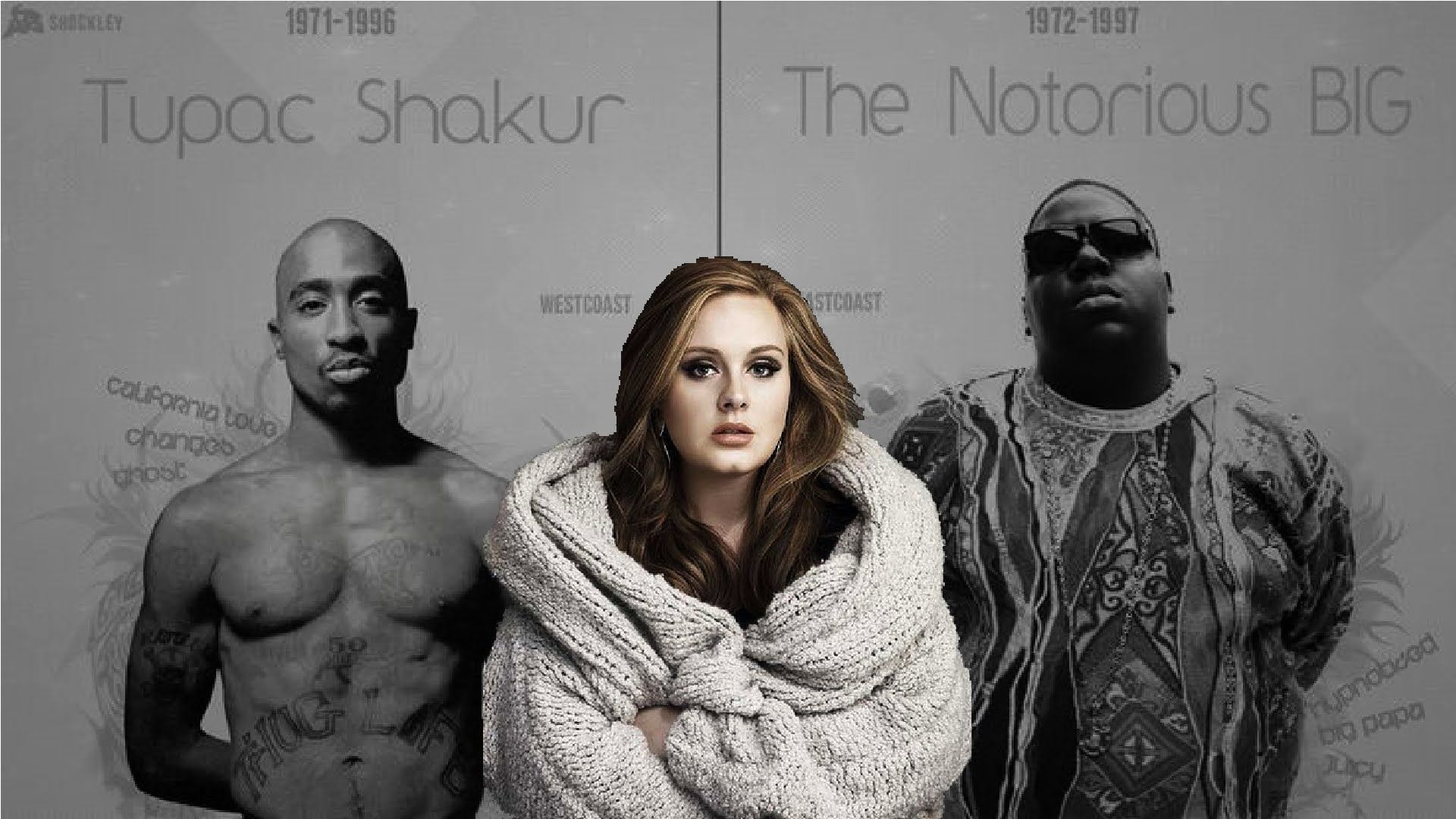 Adele - Hello Feat Biggie Smalls & 2pac 2016 - YouTube