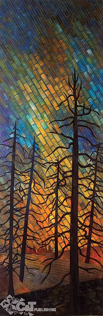 This is a quilt, wonderful inspiration for a mosaic.  Radiant Landscapes by Gloria Loughman for C Publishing