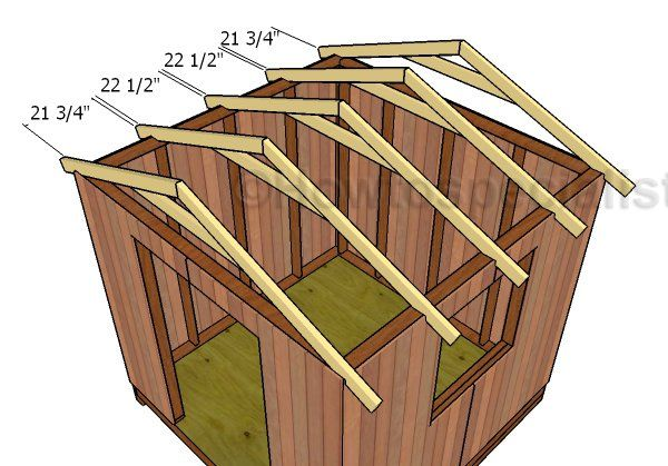 Building A Gable Roof For A 8 8 Shed 8x8 Shed Shed Plans