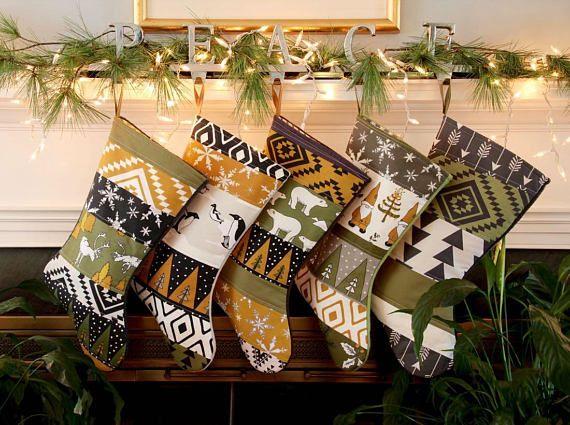 29e744aa8 Family Christmas Stocking Set of 5 6 7 Personalize