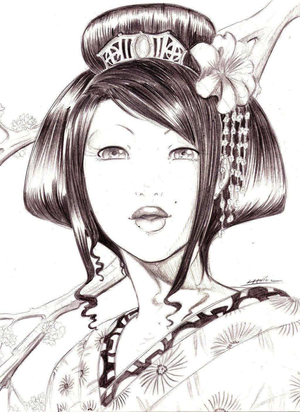 Uncategorized Geisha Girl Drawing geisha lapiz by sanozukeloco deviantart com on yay deviantart