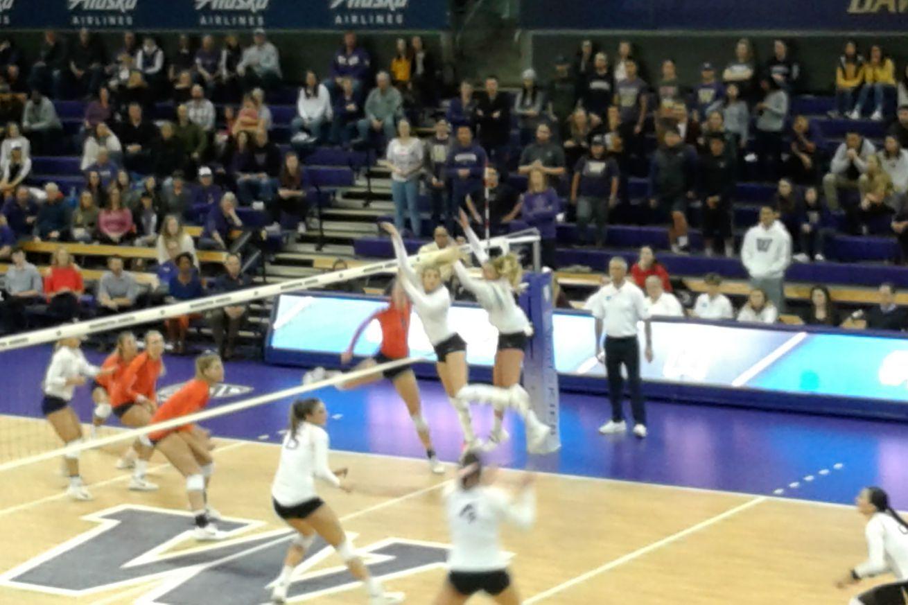 Dreams Dashed Uw Volleyball Stunned By Illinois Volleyball Illinois Washington Huskies