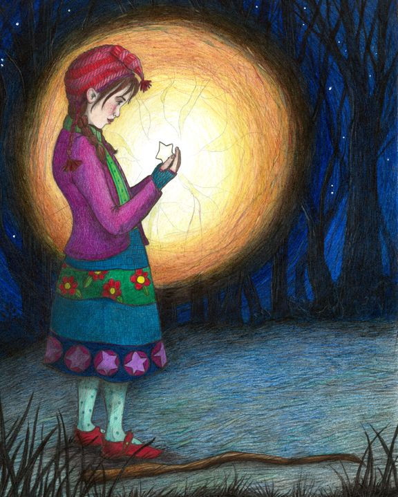 """""""Lore finds the Star"""" from """"Lore and the Little Star"""". Jessica Boehman"""