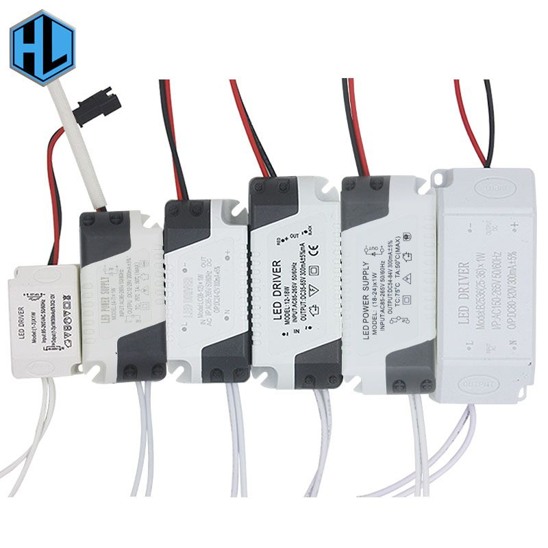10pcs 1 36w Plastic Shell Led Driver Transformer Ac90 265v Dc3 136v Constant Current 300ma Power Supply Adapter For Light Accessories Led Lamp Diy Led Drivers