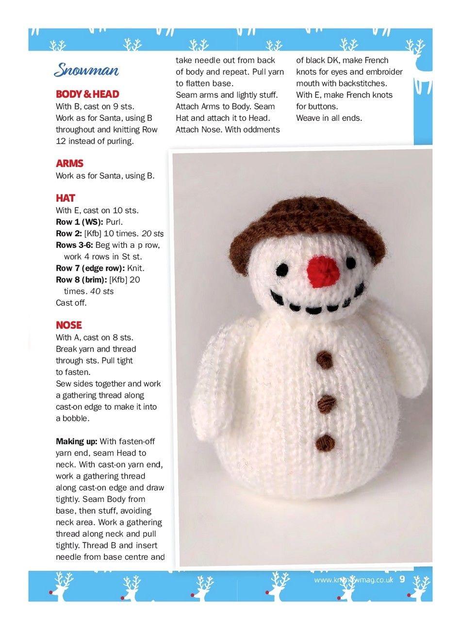 KNIT NOW №79 2017 | CHRISTMAS - Free knitting patterns | Pinterest ...
