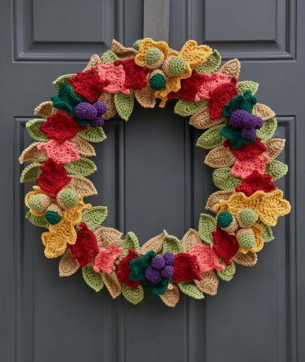 Fabulous Fall Wreath Lw5789 Free Crochet Pattern Crochet Things I