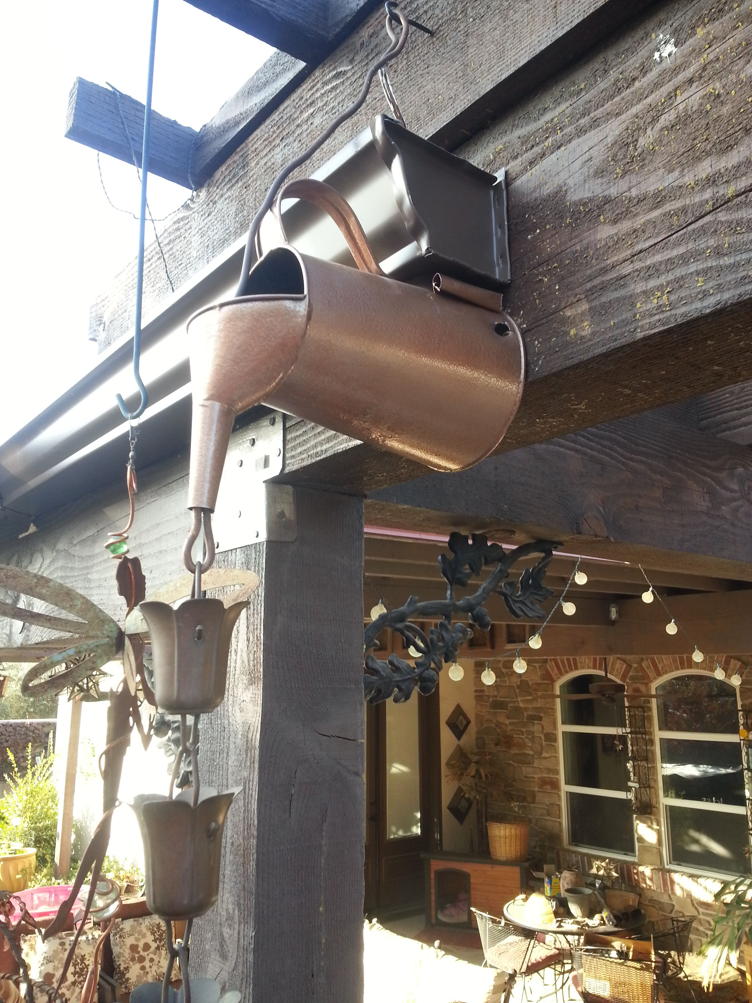 Pin By Country Lane Bling On My Finished Crafts Rain Barrel Rain Gutters Rain Chain