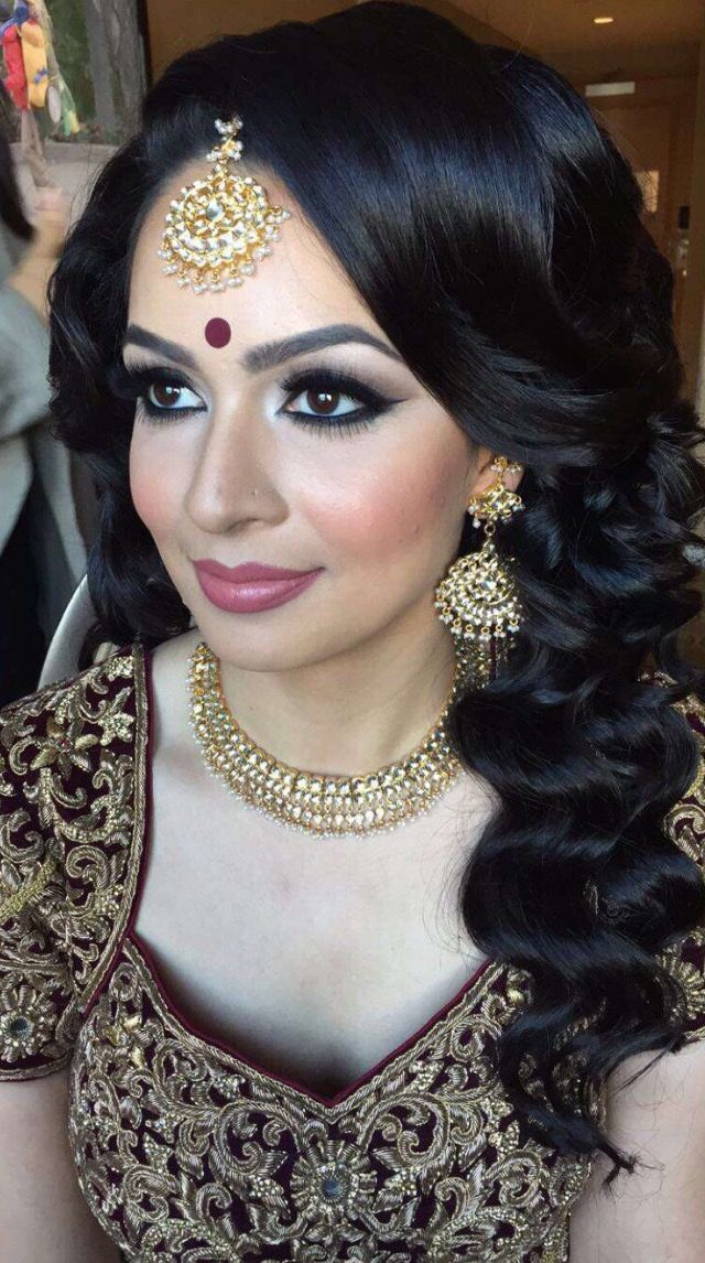 Pinterest pawank90 Desi bridal makeup, Bridal makeup