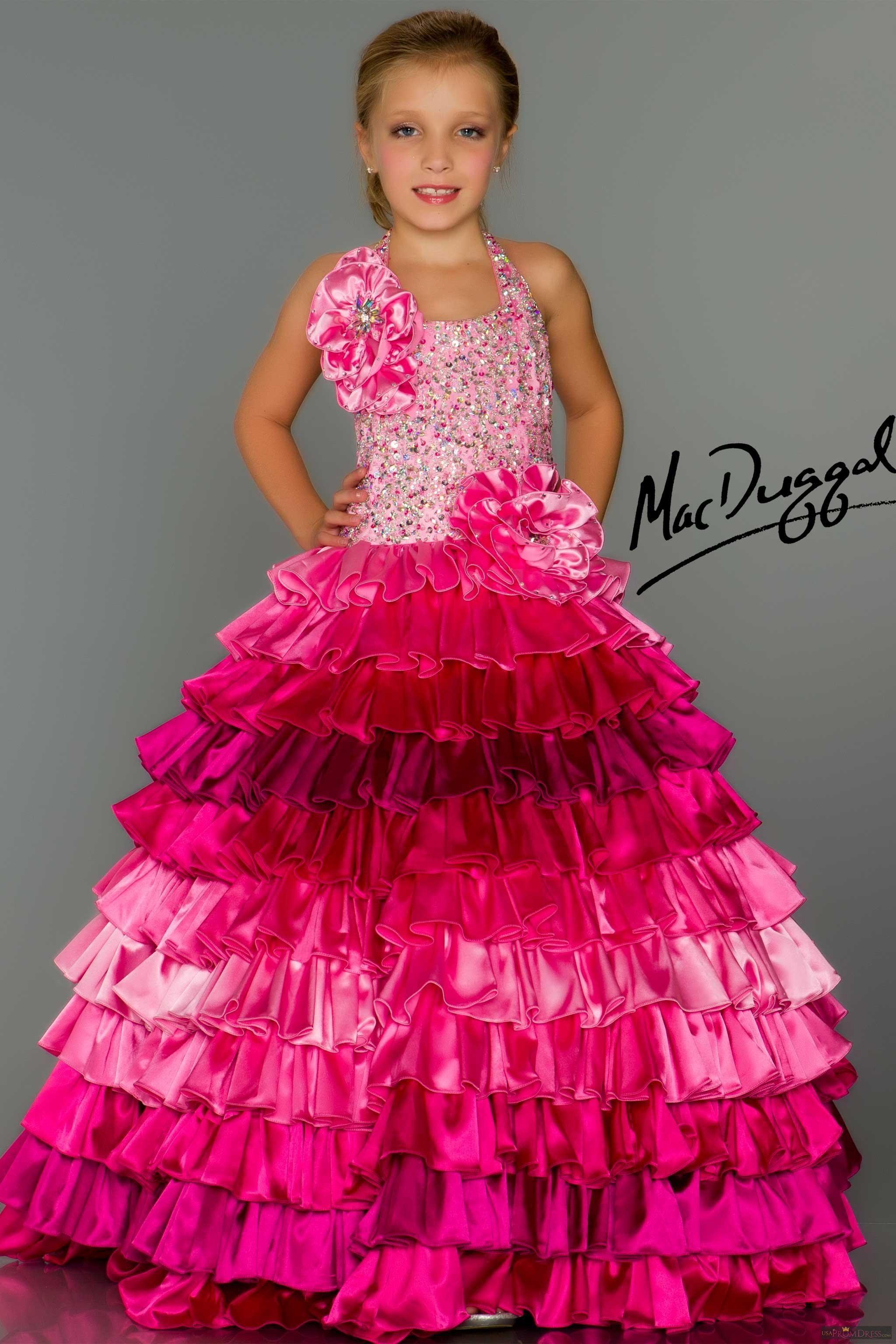 Mac Duggal Dress 81674S Color: Hot Pink Ombre, Purple Ombre Size ...