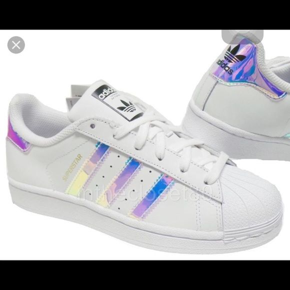 adidas superstar womens holographic stripes