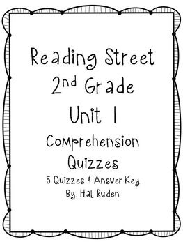 Reading Street 2nd Grade Unit 1 Story Comprehension