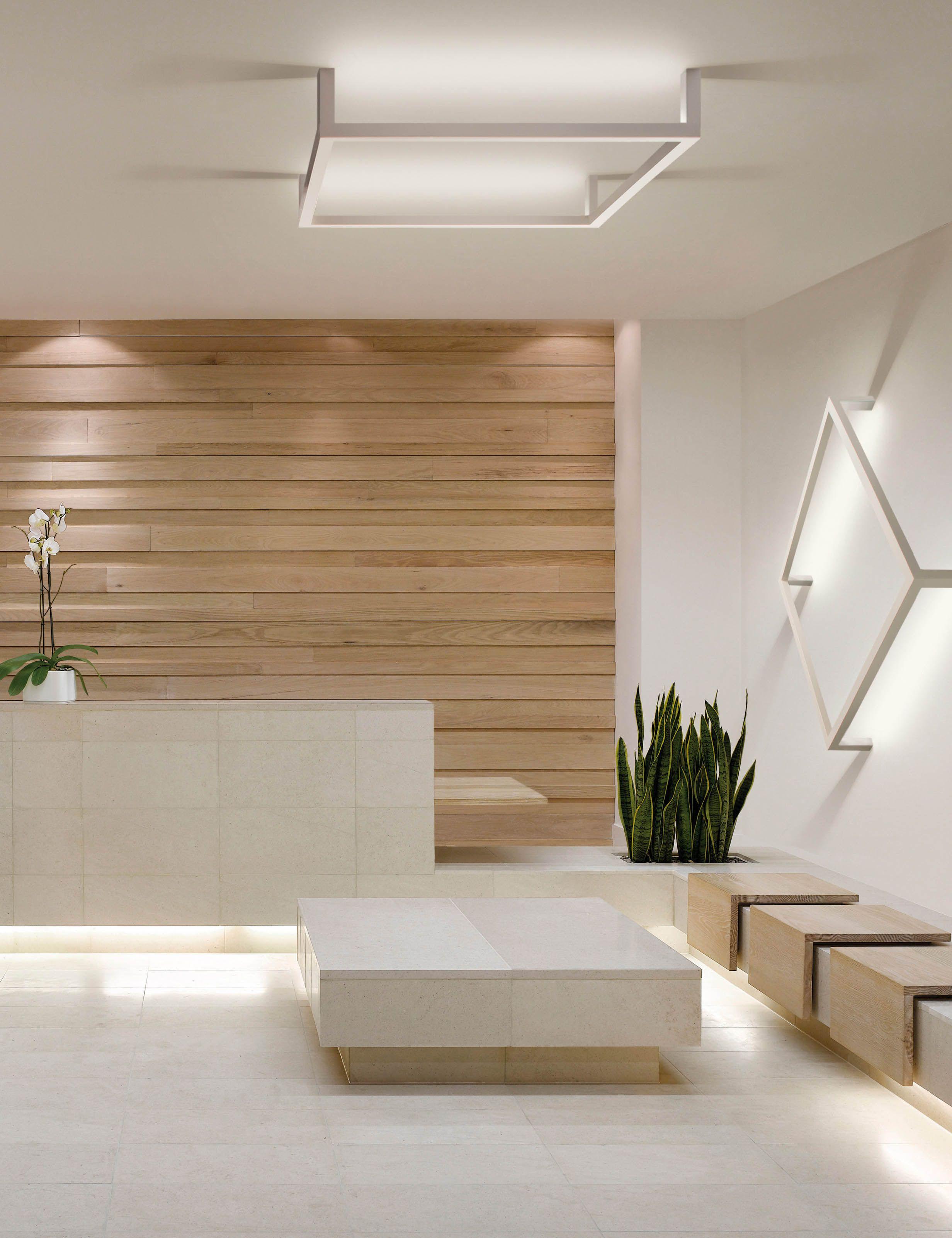 cool inspiration wood interior walls. wall behind reception desk Framework by Manuel Vivian  sleek clean lines wood panels area AxoLight 1 bafco bafcointeriors Visit www com