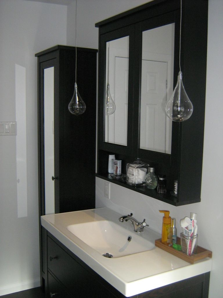 IKEA Hemnes sink cabinet, Hemnes high cabinet mirror door Our bathroom Pinterest HEMNES