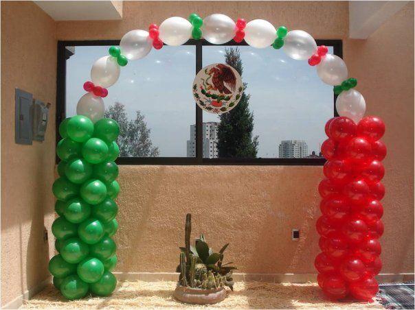 Arco con globos noche mexicana decoraciones con globos - Globos para fiesta ...