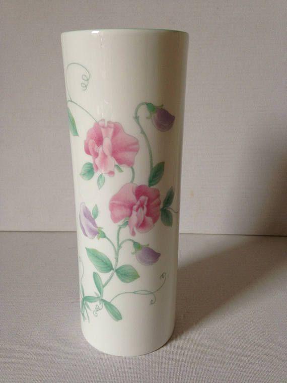 Sweet Pea Vase Marks And Spencer Vintage Floral Vase St Peculiar