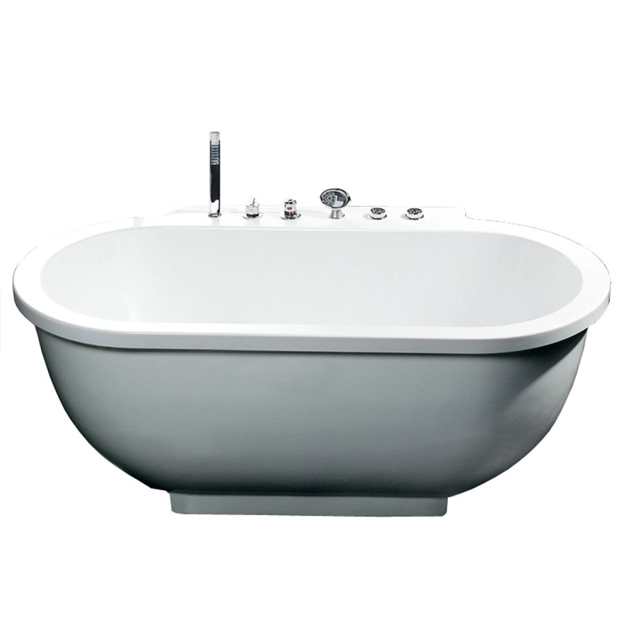 Ariel White Acrylic Oval Whirlpool Tub (Common: 38-In X 71-In ...