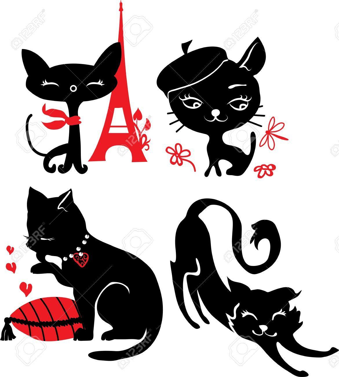 siluetas de gatos enamorados - Buscar con Google