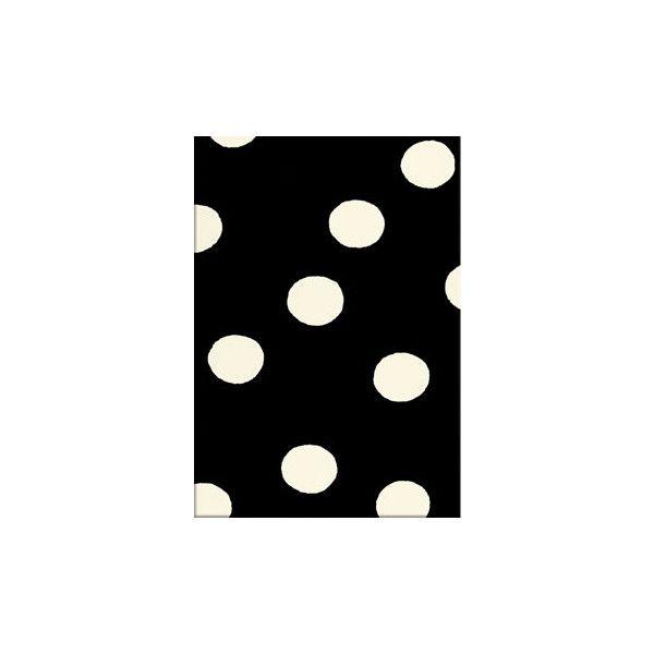 Black and White Polka Dot Rug found on Polyvore