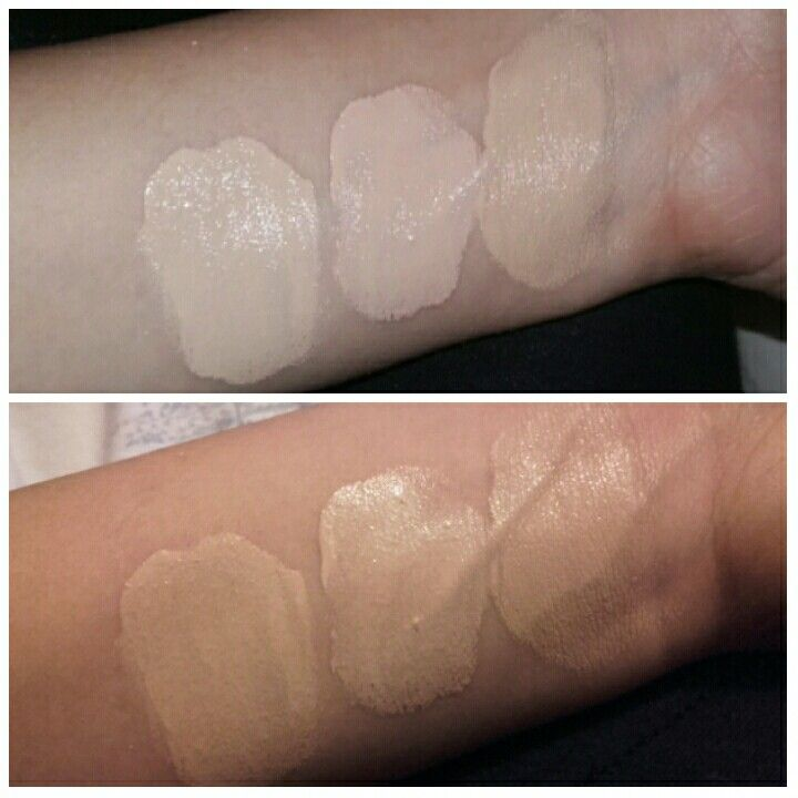 Clinique Even Better Foundation Swatches Left To Right