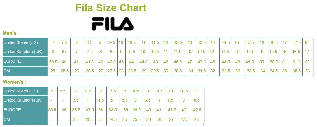 Pin by My Shoe Spot on Shoe Size Chart Brands | All black ...