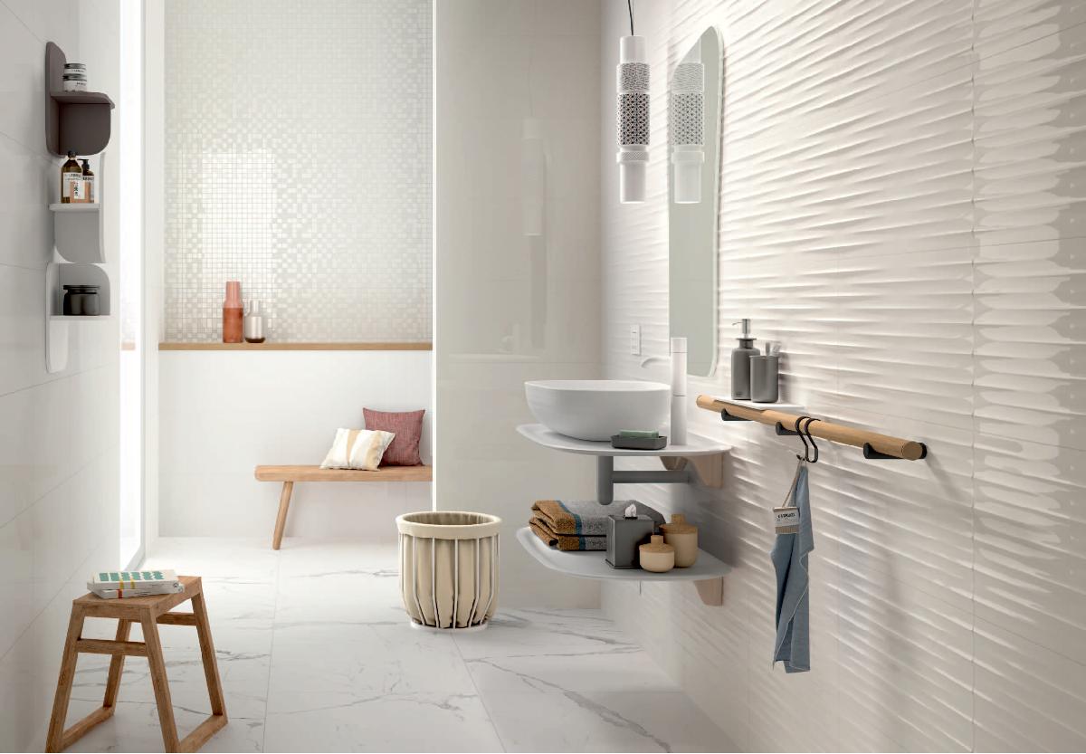 Marazzi Color Code Bianco Lux 30x60 Cm Mnpy Bathroom Trends Contemporary Interior Design Bathroom Design Trends