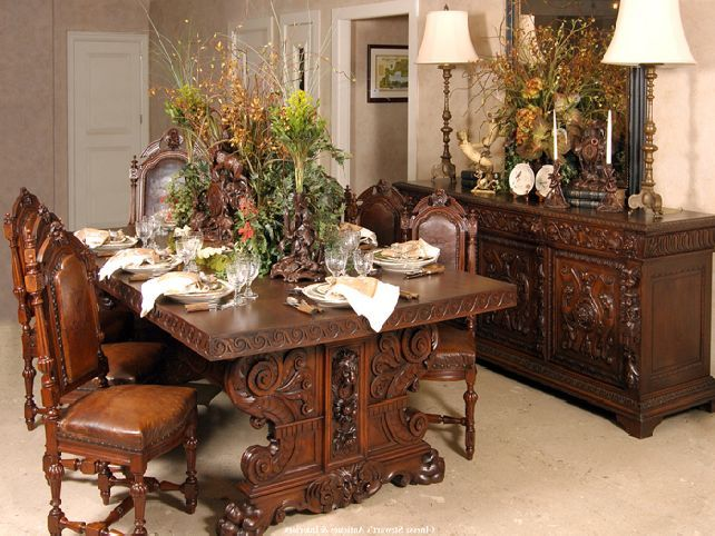 Antique Dining Room Furniture Modern With Photos Of Antiques Sets