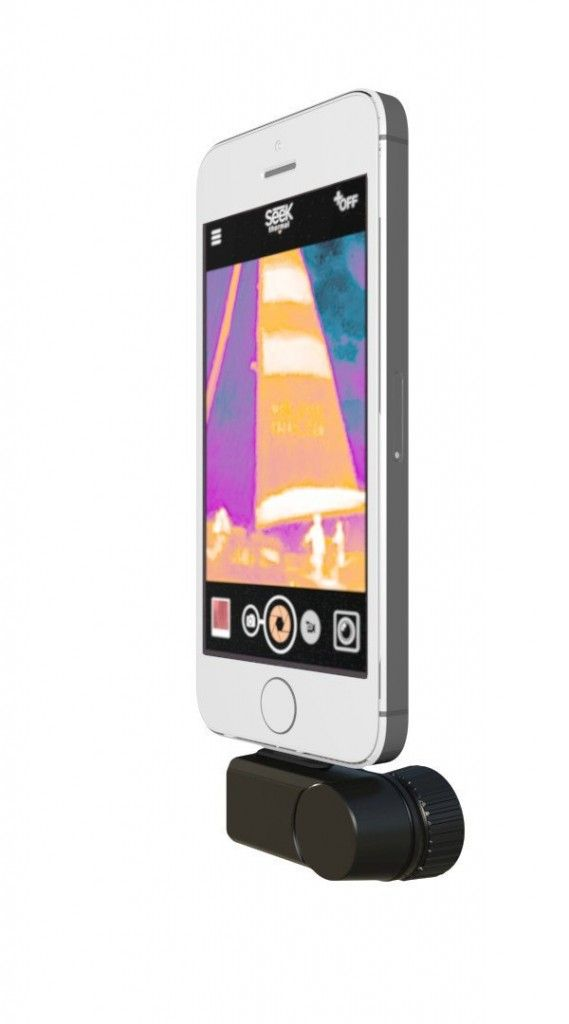 See Through Walls With Your Iphone Or Android Hometips Thermal Imaging Camera Thermal Imaging Smartphone