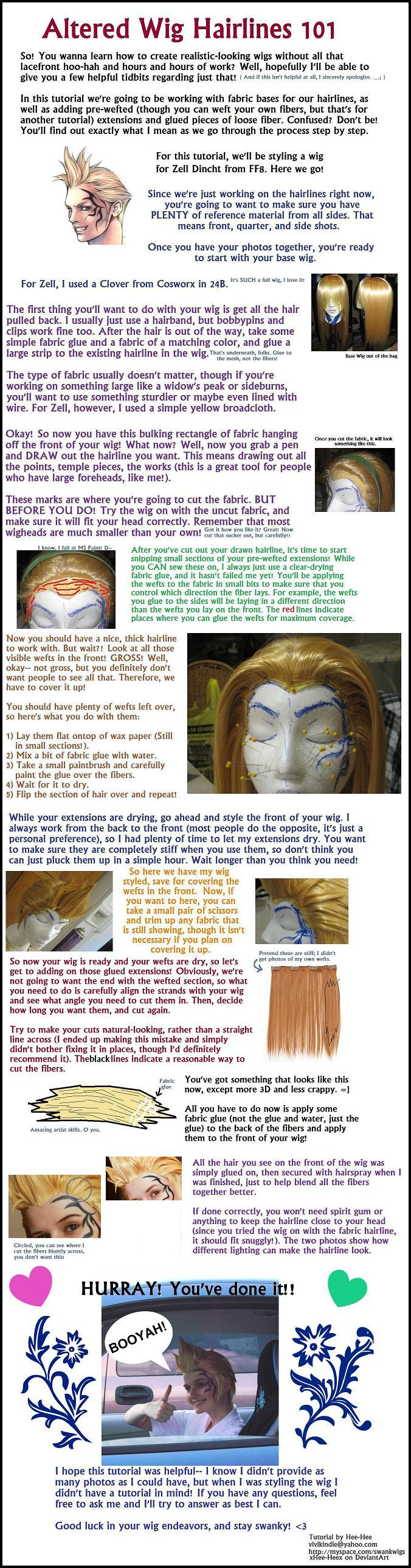 Altered Wig Hairlines